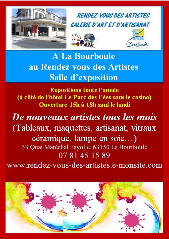 affiche permanente RDV des artistes