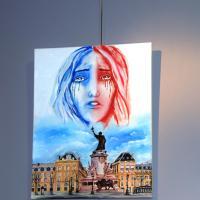 """""""Les loups sont entrés dans Paris"""", huile de Willy et Emily Marceau"""