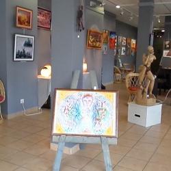 Entrée de la galerie RDV des artistes La Bourboule